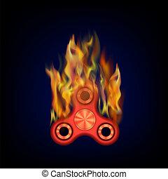 Burning Red Fidget Finger Spinner