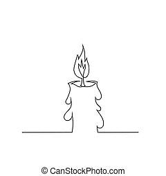 Burning Retro Candle