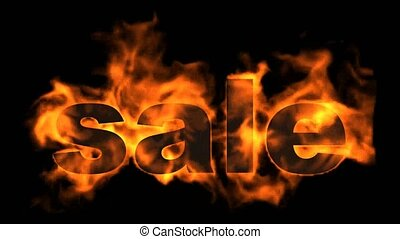 burning sale text,hot sale.