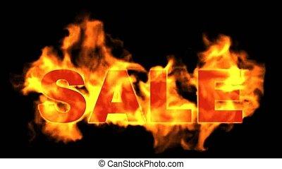 burning sale word, hot sale.