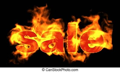 burning sale word,hot sale.