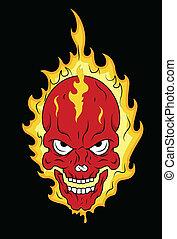 Burning Skull Vector