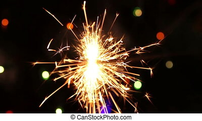 burning sparkler. background
