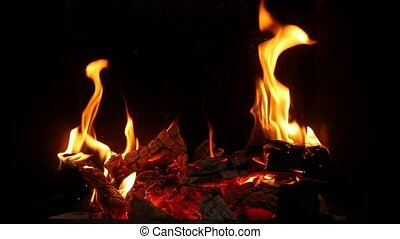 Burning spurts of flame turning wooden balks into grey ash...