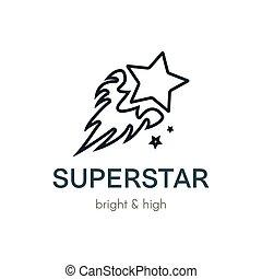 Burning Star flat vector logo design