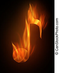 Burning - The hot burning contour of a note