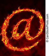 burning @