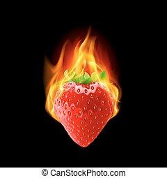 Burning strawberry