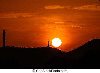 burning the sun