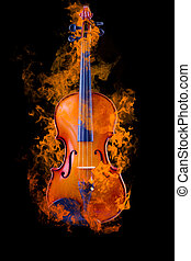 Burning violin