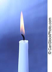 burning white candle