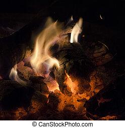Burning Wood Detail