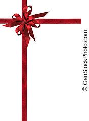 Burnished Red Ribbons - Burnished red ribbons with double ...