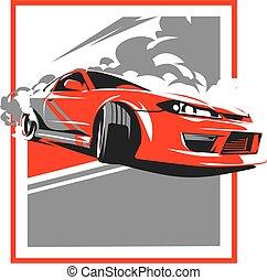 Burnout car, Japanese drift sport, JDM, - Burnout car,...