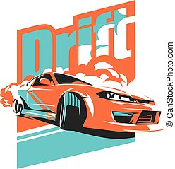 Burnout car, Japanese drift sport, JDM,