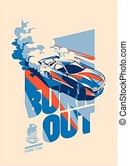 Burnout car, Japanese drift sport, Street racing - Burnout ...
