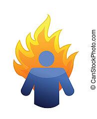 burnout concept illustration design