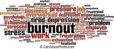 Burnout-horizon - Burnout word cloud concept. Vector ...