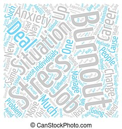 Burnout Move On And Rise Up Word Cloud Concept Text Background