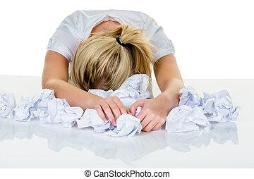 burnout, nő, hivatal