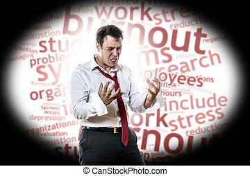 burnout, syndrome, homme