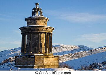 burn's, parc, holyrood, monument