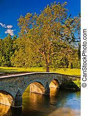 Burnside Bridge, along Antietam Creek in Antietam National Battlefield, Maryland.