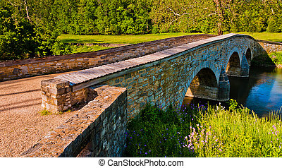 Burnside Bridge, in Antietam National Battlefield, Maryland....