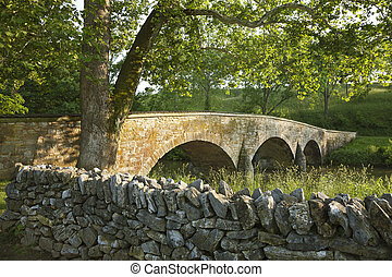 Burnside's Bridge at the Antietam (Sharpsburg) Battlefield in Maryland. Viewed from the Union side.