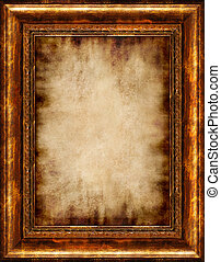 Burnt Antique Framed Parchment - Antique burnt stylish...