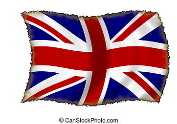 burnt british flag