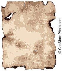 Burnt Brown Parchment Paper