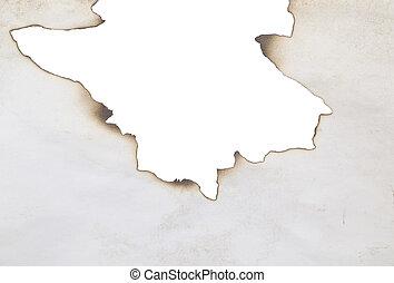 burnt edge - old burnt frame isolated on white
