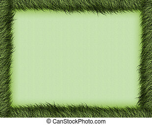 burnt grass border - a textured burnt green border and...