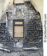 burnt house detail