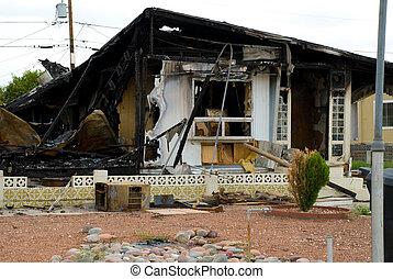Burnt - House that has burned