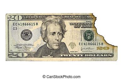 Burnt Money - Photo of Money With a Burnt Edge. Money...