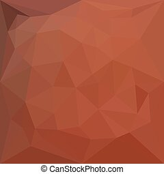 Low polygon style illustration of a burnt orange abstract geometric background.
