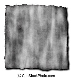 burnt paper in gray