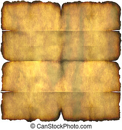 Burnt Parchment Paper - An ancient section of parchment...