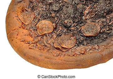 Burnt Pepperoni Pizza - An inedible burnt pepperoni pizza...
