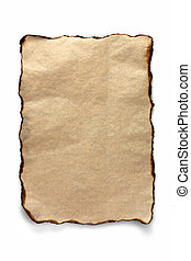 Burnt sheet of parchment