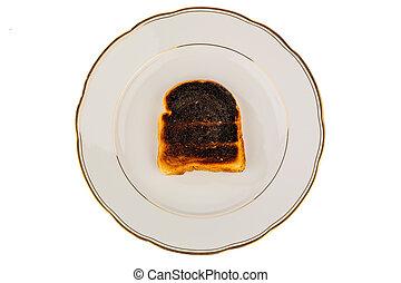 burnt toast bread slices
