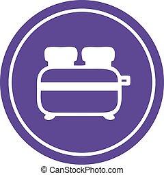 burnt toast circular icon symbol