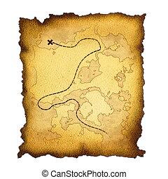 burnt treasure map