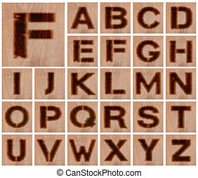 Burnt Wood Letters