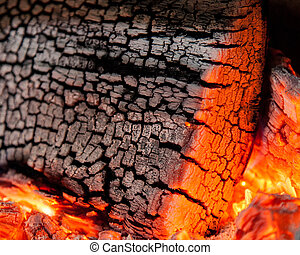 Burnt wood texture, abstract background