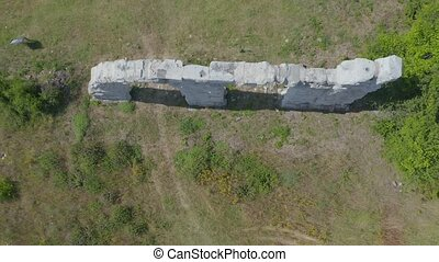 Burnum Roman remains near, Oklaj, Croatia - Aerial view of...