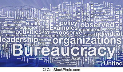 burocracia, conceito, fundo