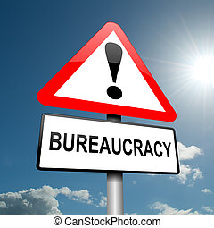 burocracia, concept.